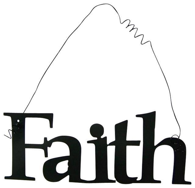 Shop Houzz Schares Metal Works Inspirational Word FAITH Wall