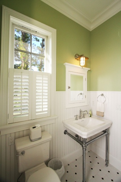Coastal Cottage Traditional Powder Room Jacksonville