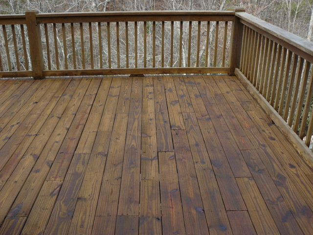 Log Home and Deck Finishes  Rustic  Deck  Charlotte  by Mackay Painting and Finishing