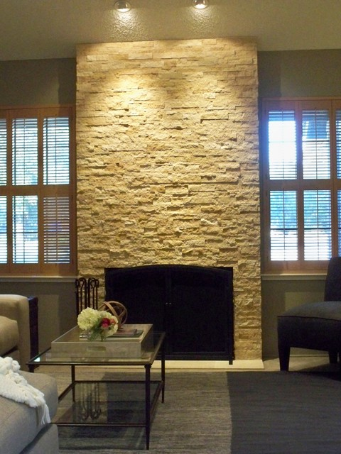 small modern country living room ideas orange rooms natural stone fireplace - ...