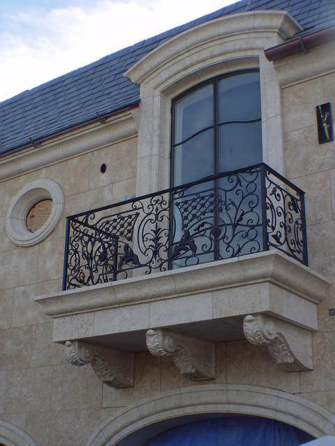 French Limestone  Traditional  Balcony  Los Angeles