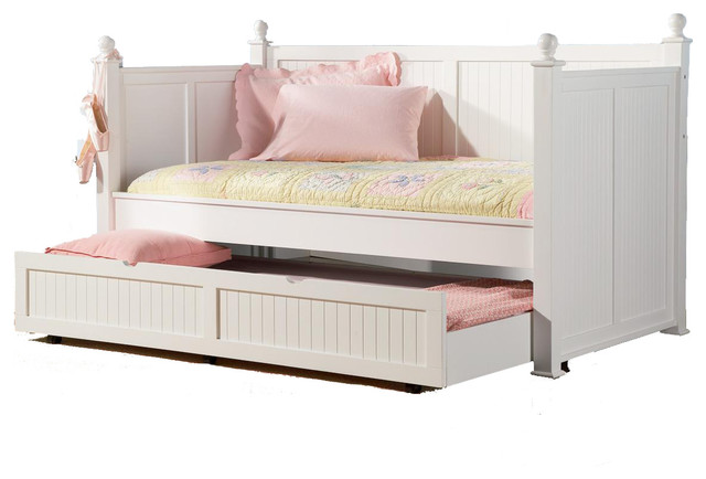 Classic Poster Wood Twin Daybed Posts BeadBoard Arm