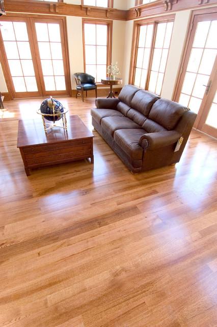 Red Oak Flooring  Modern  Living Room  DC Metro  by