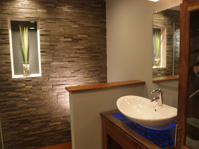 spa bathroom natural stone - contemporary - bathroom - richmond