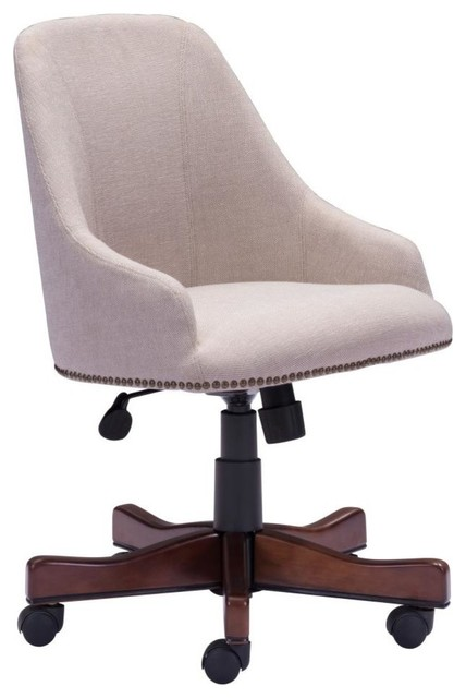 office chair fabric buy swing stand modern contemporary beige transitional chairs by house bound