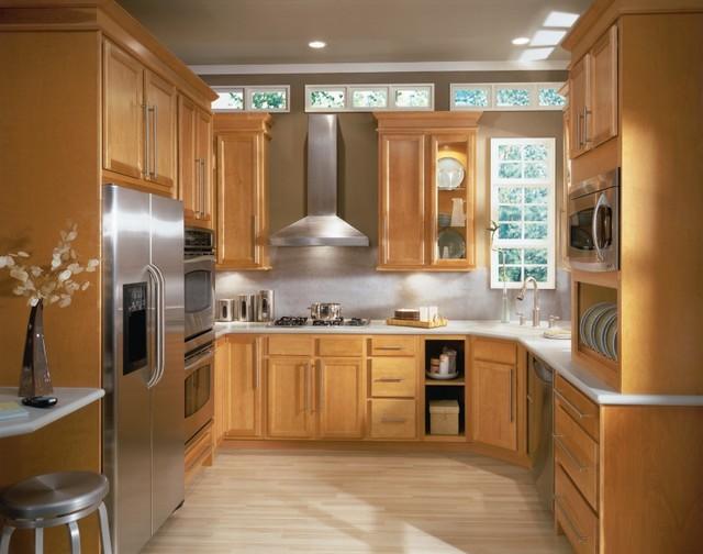 Aristokraft Birch Cabinets With Light Finish Kitchen