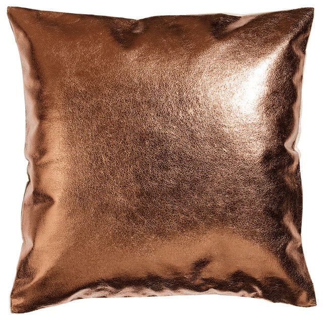 MetallicLinen Cushion Cover Copper  Eclectic