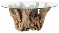 Round Glass Dining Table With Tree Trunk Base Uk ...