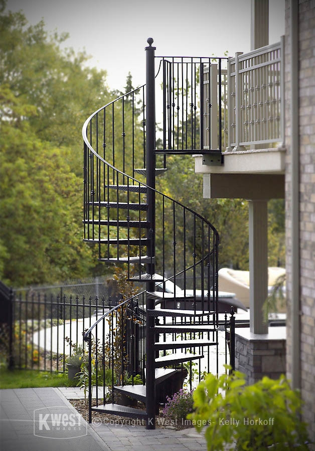 Wrought Iron Spiral Staircase Modern Landscape Toronto By | Wrought Iron Spiral Staircase | Old | Plant Stand | Stair Case | Transitional | Narrow