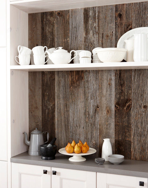 Creative Kitchen Backsplash Ideas Part - 32: ... Might Not Be Best For The Space Right Behind Your Range, It Works Great  For Other Areas, Such As A Coffee Station. Creative Kitchen Backsplash Ideas