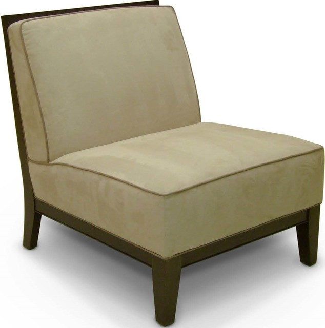 Armless Lounge Chair  Transitional  Armchairs And Accent