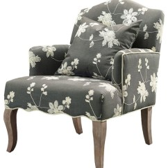 Floral Upholstered Chair Lazy Boy With Fridge And Speakers Embroidered Linen Armchair Armchairs Accent Chairs By Luxe Home Decorators