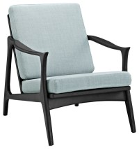 Modway - Modern Contemporary Armchair, Light Blue Fabric ...
