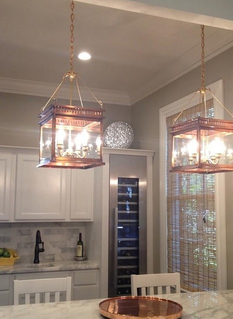 Hanging lantern Copper Lanterns  Traditional  Kitchen