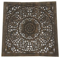 Asiana Home Decor Elegant Wood Carved Wall PanelsWood