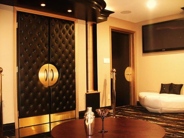 Home Theater Eclectic Home Theater Boston By CHIC