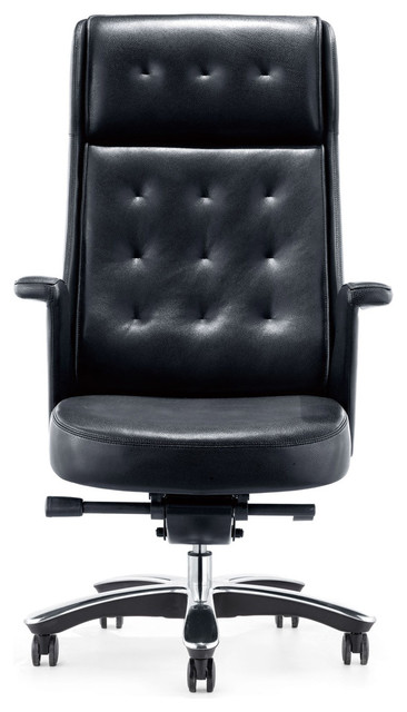 Rockefeller Genuine Leather Executive Chair  Contemporary