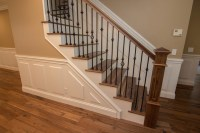Wrought Iron Open Wood Tread Stairs - Traditional ...
