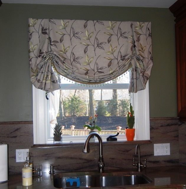 Drapes And Soft Treatments Traditional Kitchen Boston By