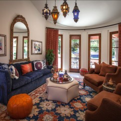 Leather And Chenille Sofa Mart Davenport Morocco Style - Mediterranean Living Room Los Angeles ...
