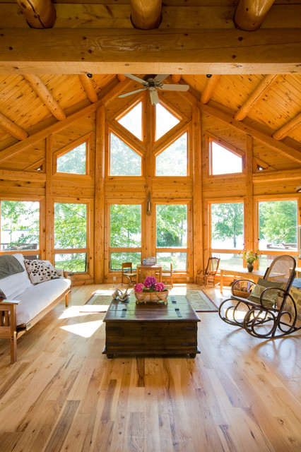 Chesapeake Bay waterfront Log Home  Traditional  Living