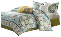 JLA Madison Park Samara Cotton Comforter Set, Blue ...