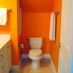 Distressed Kitchen Chairs Rustic Art Bright Orange Bathroom