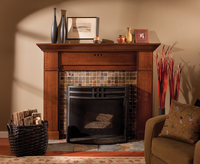 Bungalow Fireplace Mantel Mantel Of A True Craftsman - Craftsman - Living Room
