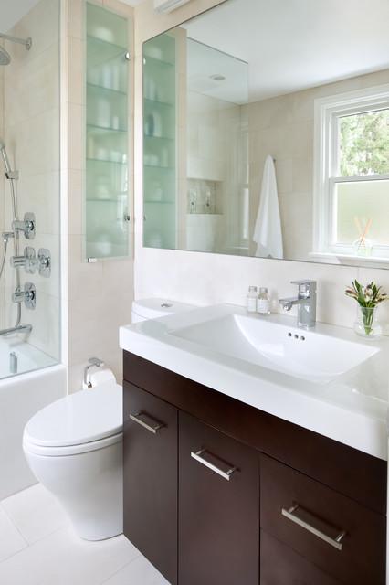 Small Space Bathroom - Contemporary - Bathroom - Toronto ...