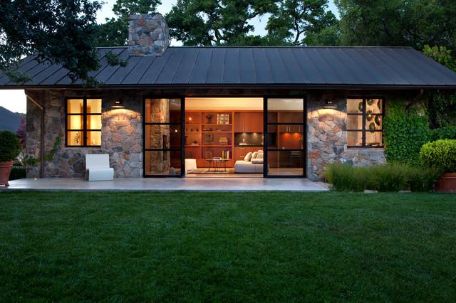 Fieldstone Guest Cottage  Contemporary  Exterior San