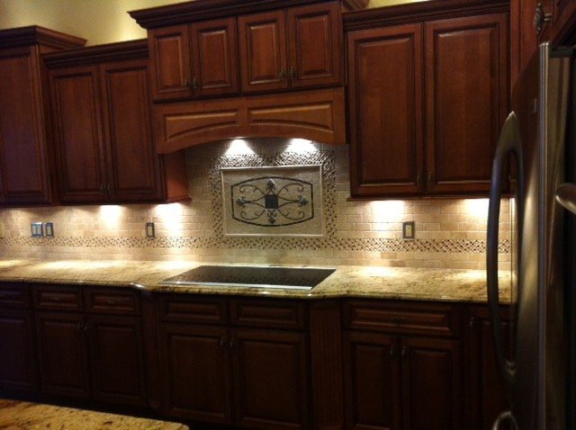 Maicon Backsplash Wall Medallions  Traditional  Kitchen  Tampa  by Great Britain Tile