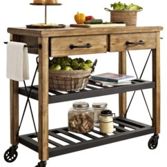 Crosley Kitchen Cart Marine Cabinets Roots Rack Industrial Islands
