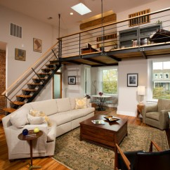 Decorating With Red Leather Sofas Sofa Surfing Madrid Columbia Heights Dc Full Row House Remodel - Industrial ...