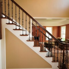 Armed Dining Chairs C Stand For Hammock Chair Interior Staircase - Traditional Chicago By Jusalda Custom Stairs Inc,