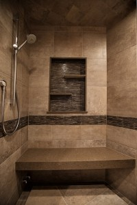 Mountain Home, shower - Rustic - Bathroom - Denver - by YK ...