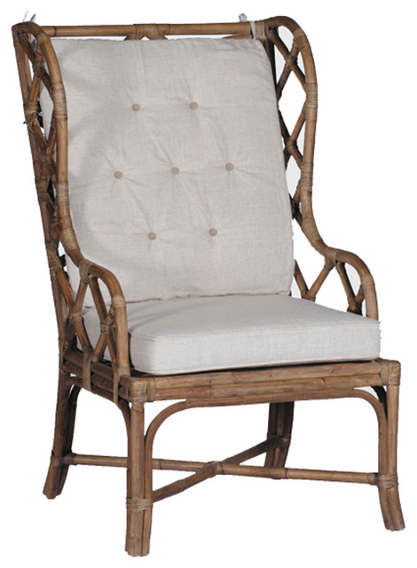 high backed chair aniline leather lounge and ottoman gabby watson rattan linen back tropical dining chairs by