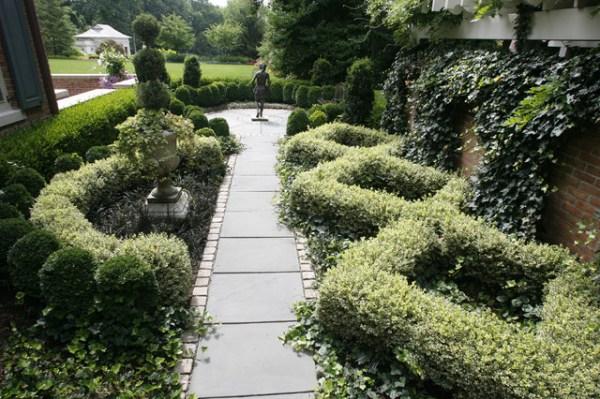 formal knot garden - traditional