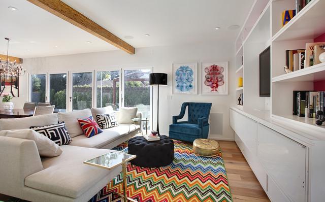 Turquoise LA Interior Design - Venice contemporary-living-room