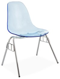 Ghost-Style Acrylic Stacking DSS Dining Chair, Blue ...