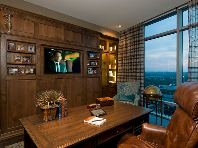 Austonian Luxury Condo Contemporary Home Office