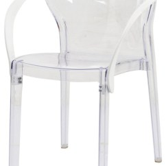 Transparent Polycarbonate Chairs Black Director Chair Covers Dining Armchair With White Trim Clear Set Of 4 Contemporary By Merske