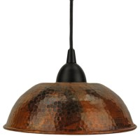 Hand-Hammered Copper Dome Pendant Light - Traditional ...