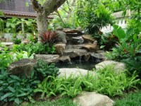 Tropical Thailand Waterfall Garden - Tropical - Landscape ...