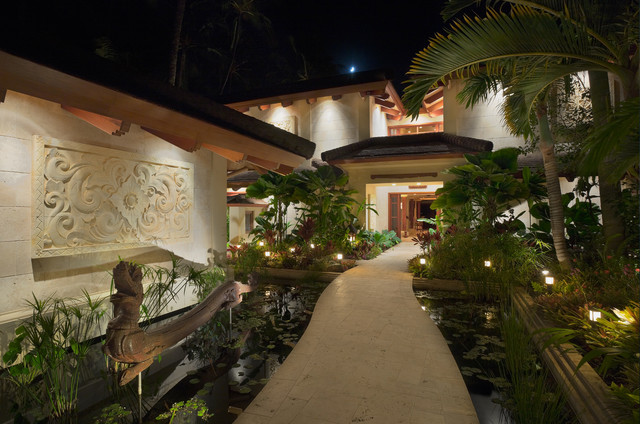Bali House  Tropical  Landscape  Hawaii  by Rick