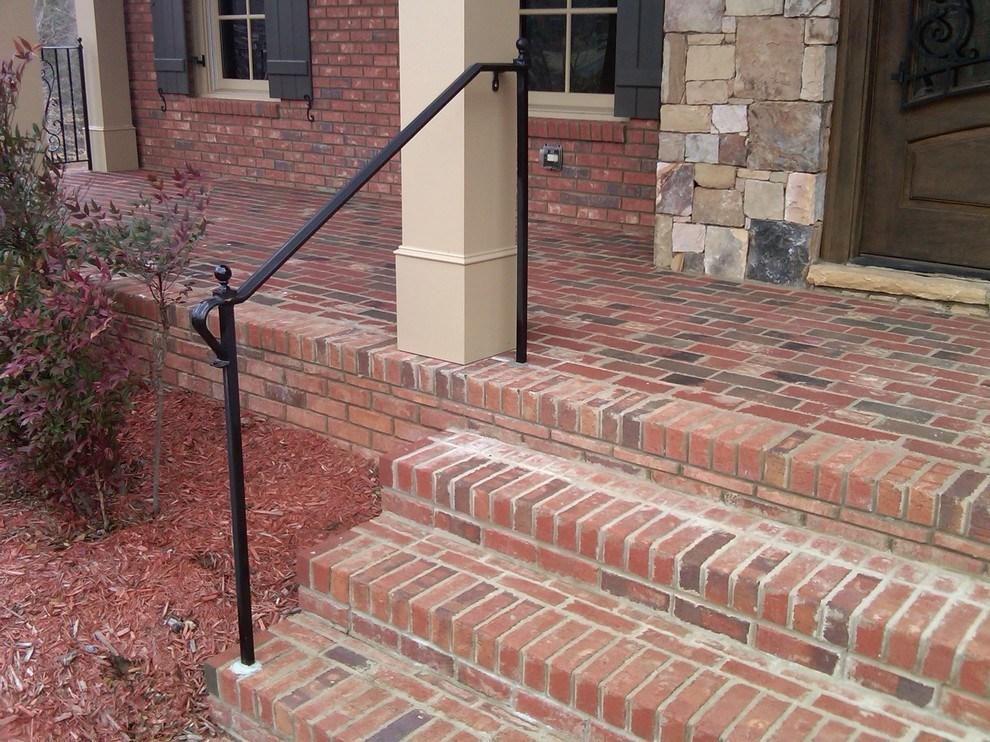 Exterior Wrought Iron Handrail Railing Mediterranean Porch | Wrought Iron Hand Railing Exterior | Cast Iron | Steel | Steps | Deck | Iron Stair Rail