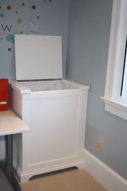 Laundry room with great storage options  Eclectic