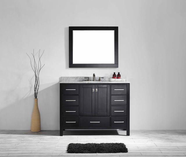 Aberdeen 42 Transitional Espresso Bathroom Vanity Transitional Bathroom Vanities And Sink Consoles By Eviva Llc