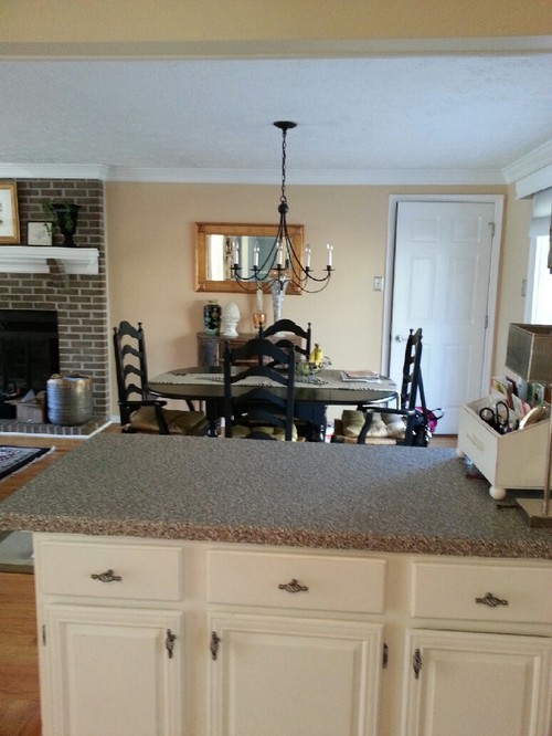 counter kitchen help  combine high end laminate with stone