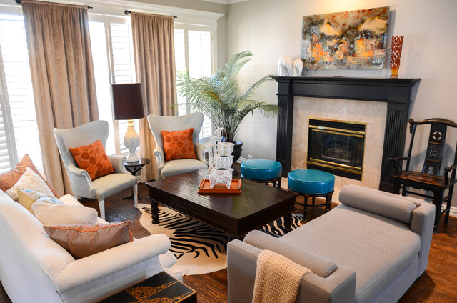 Funky Formal Living With A Global Touch Eclectic