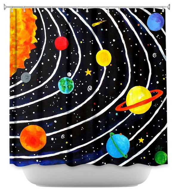 Shower Curtain Unique From DiaNoche Designs Solar System